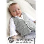 Knit Baby vest V neck - Handknit vest for babies