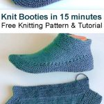 Knit Booties in 15 minutes - Tutorial