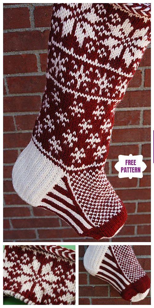 Knit Christmas Stocking Free Knitting Patterns