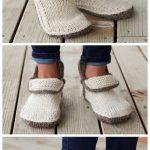 Knit Modern Mocs Slippers Knitting Patterns