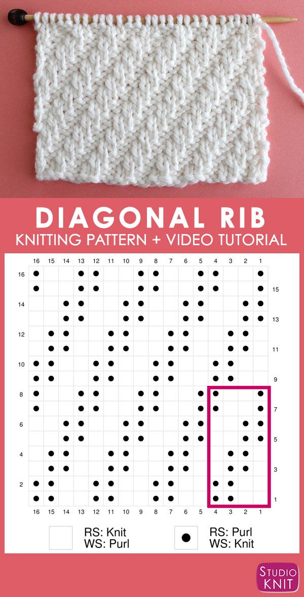 Knit Stitch Pattern E-Book for Beginning Knitters by YouTube's Studio Knit – PDF Download