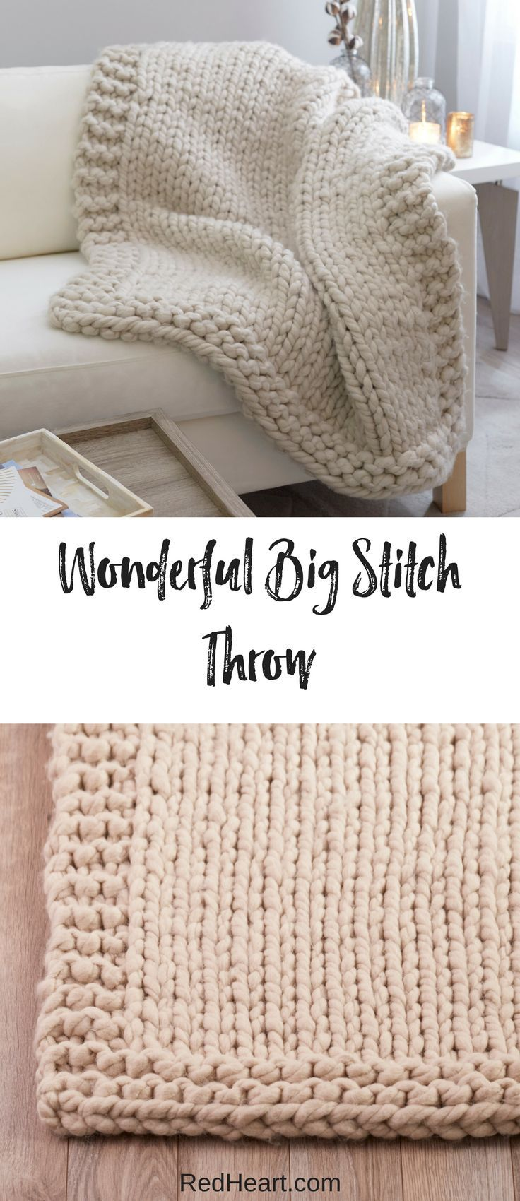 Knit this superbly cushy throw on big knitting needles and update your favorite …