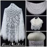Knitted shawl handmade FOR SALE