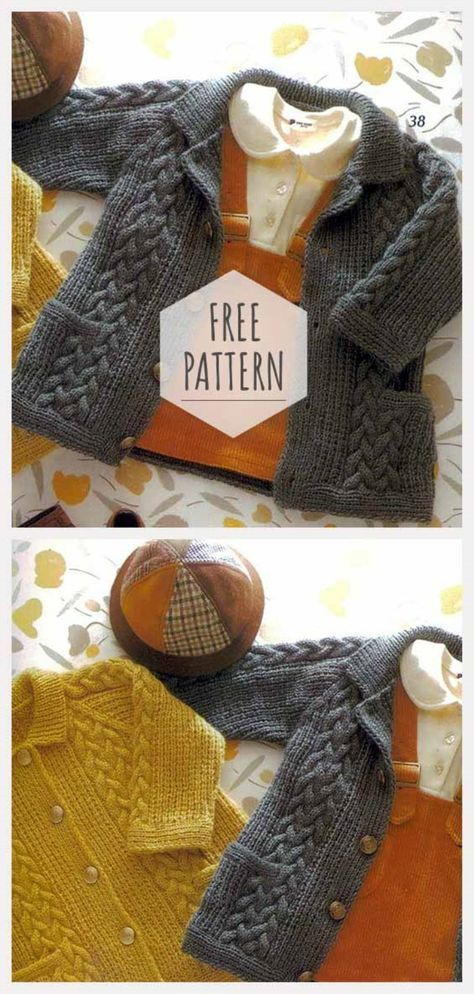 Knitting Kids Cardigan Free Pattern