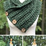 Knitting Pattern for Easy Convertible Rustic Neckwarmer, Shoulder Cozy, and Mini...