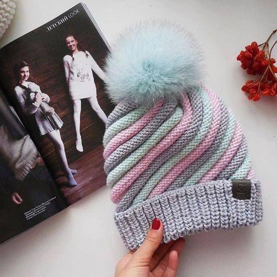 Knitting Scarf Hat Models