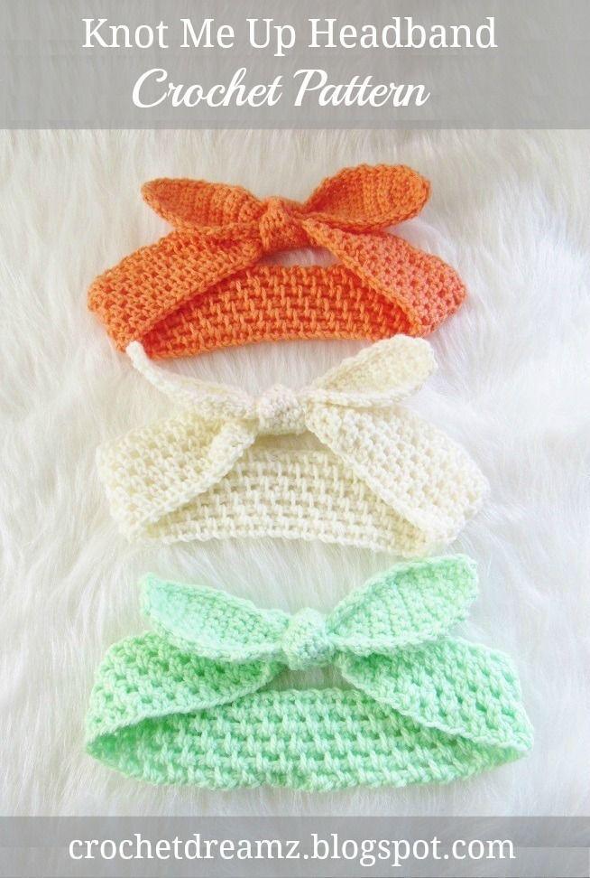 Knot Me Up Stirnband, kostenlose Häkelanleitung – #Crochet #Free #headband #knot #Patt …