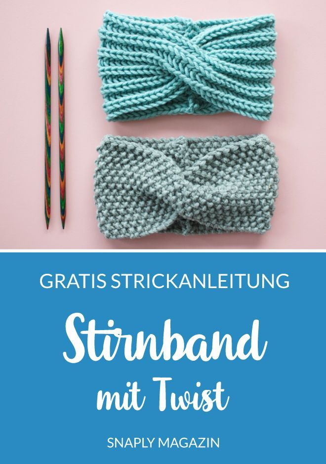 Kostenlose Strickanleitung: Stirnband mit Twist