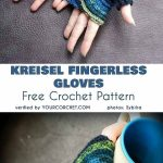 Kreisel gloves without fingers, crochet pattern free