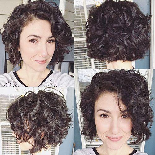 Kurze Haarschnitte Für Frauen Mit Lockigem Haar –  #Frauen #für #Haar #Haarsch…