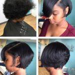 Kurze Schnitte schwarze Frisuren