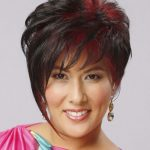Kurze, gerade, alternative Frisur – Dunkle Mokka-Brünette-Haarfarbe