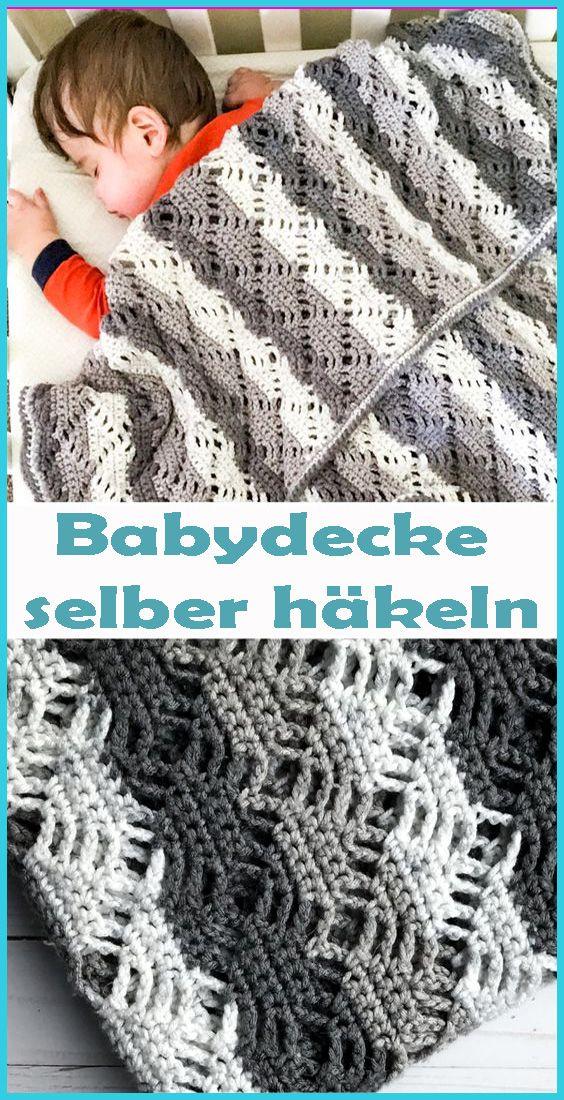 Kuscheldecke für Babys häkeln – kostenlose & einfache Anleitung