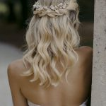LYRIC | Floral hair piece in pale gold, wedding headpiece for boho weddings