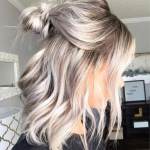 Lace Front Wig Blonde Wig Descendants 2 Mal Wig | Blond Purple TV/Movie Fancy Cosplay