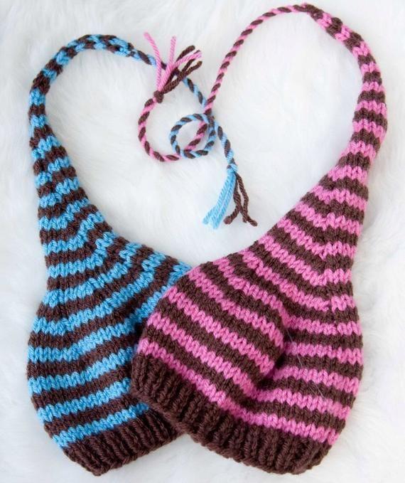 Lange Schwanz Pixie Baby Hut stricken Muster in 3 Größen, PDF-Nummer 109, INSTANT DOWNLOAD — Erlaubnis zu verkaufen–über 45.000 Muster verkauft