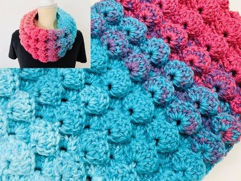 Learn To Crochet 3D Shell Stitch