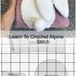 Learn To Crochet Alpine Stitch,  #Alpine #Crochet #Learn #Stitch