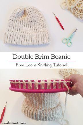 Learn To Loom Knit: Double Brim Beanie Tutorial