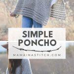 Light Alpaca Poncho Crochet Pattern