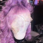 Light Purple Full Lace Wigs With Baby Hair