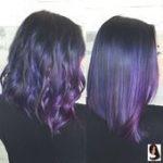 Lila Haare nähen in Frisuren mit Farbe #Farbhaar #Farbe #Haarverlängerung,  #balayagehairplum...
