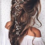 Long Bridal Hair Vine Wedding Headpiece Bridal hair accessories Wedding Hair Accessories Pearl Cryst
