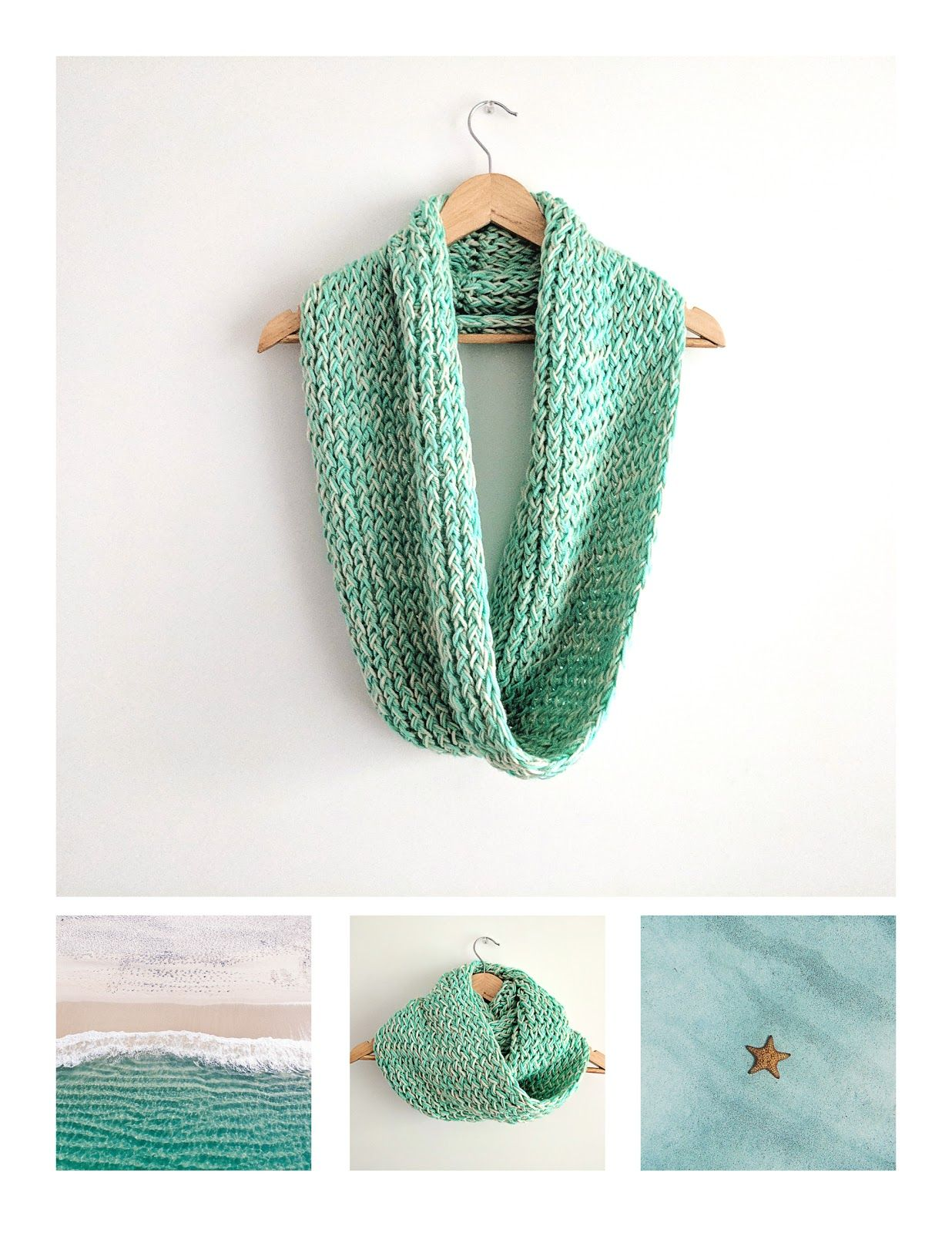 Loom Knit Infinity Scarf Pattern (Free)