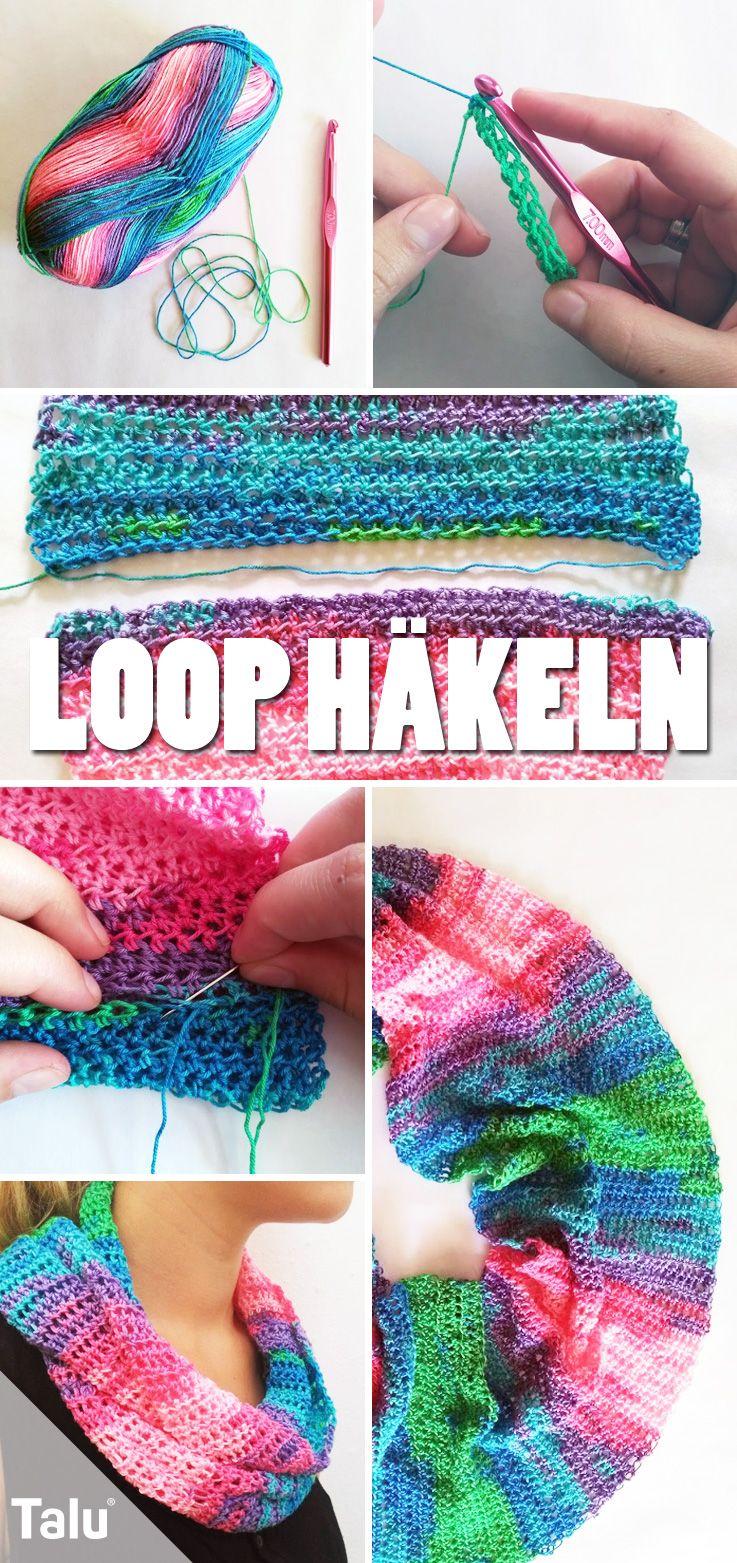 Loop-Schal häkeln – kostenlose DIY-Anleitung für Anfänger