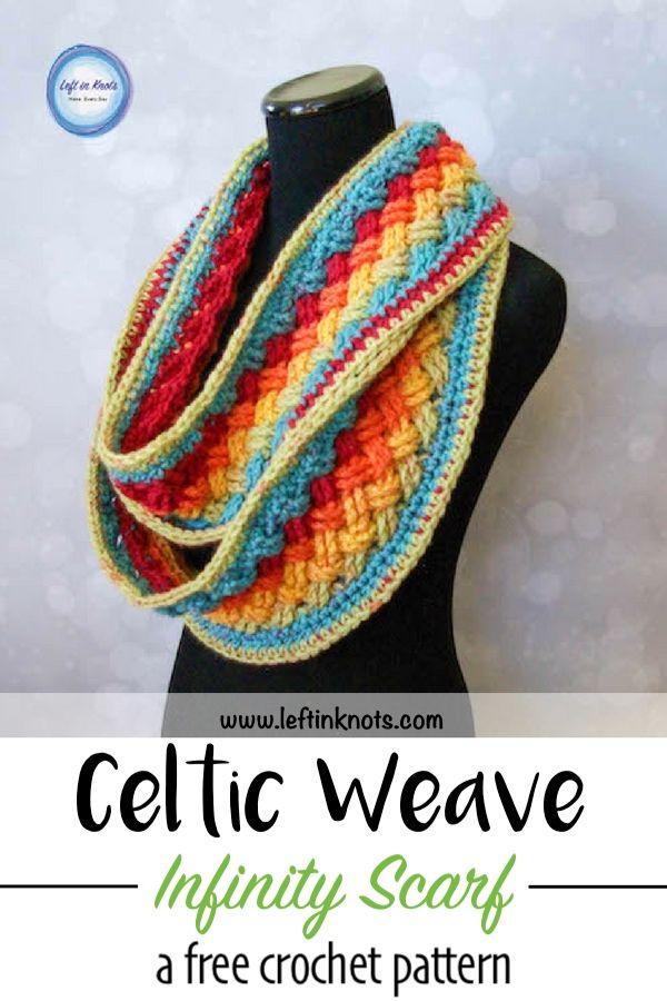 Lucky Celtic Infinity Scarf – Free Crochet Pattern