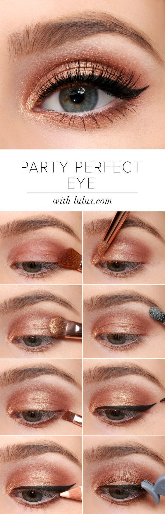 Lulus How-To: Party Perfect Eye Makeup Instructions – #eye #HowTo #Instructions …
