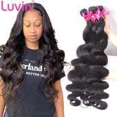 Luvin Brazilian Hair Weave 3 4 Bundles Body Wave Virgin …- Luvin Brasilianisch…