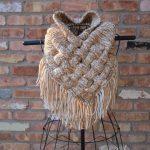 MUSTER: Der keltisch gestrickte gewebte Schal, Riesenschal, grob gestrickter Schal, Kuttensch...