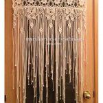 Macrame Curtain, Crochet Curtain,Large macrame, Macrame fiber art, Macrame wall ...