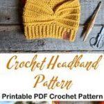 Make a cozy ear warmer. headband crochet pattern - ear warmer crochet pattern pd...