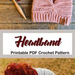 Make a cozy ear warmer. headband crochet pattern- ear warmer crochet pattern pdf...