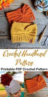 Make a cozy ear warmer. headband crochet pattern – ear warmer crochet pattern pd…