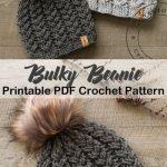 Make a cozy hat. bulky hat crochet patterns- winter hat crochet pattern- amorecr...