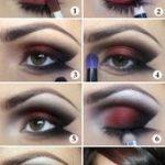 Make-up Tutorial Lady Vamp schwarz rot # prom   - haare/mack up/Nägel - #haarem...
