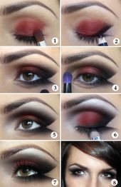 Make-up Tutorial Lady Vamp schwarz rot # prom   – haare/mack up/Nägel – #haarem…