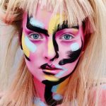 Makeup by Alex Box // I love painting this style with acrylics and have always w...