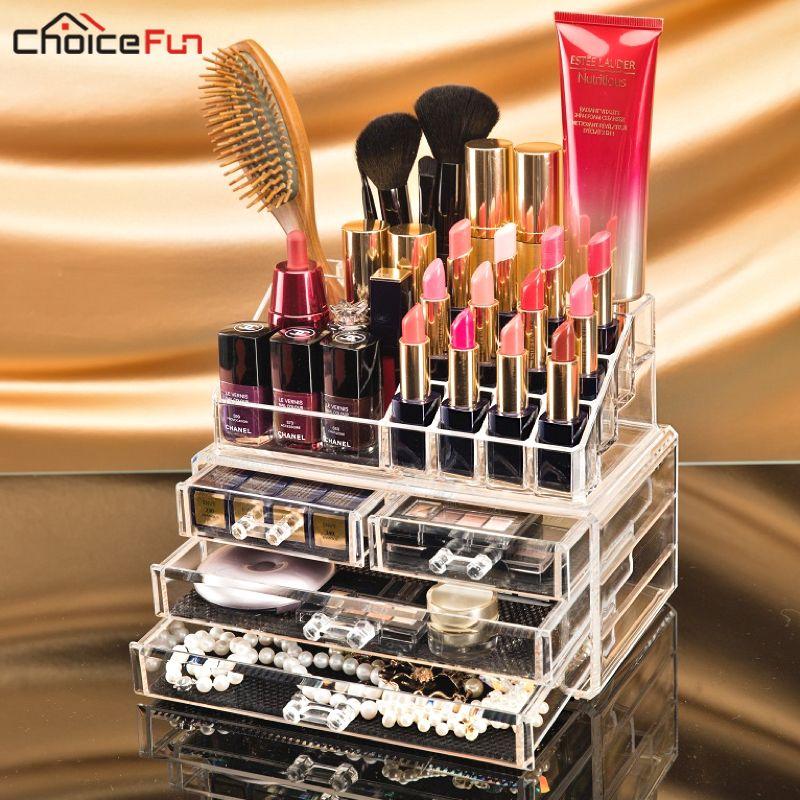 Makeup organizer storage box acrylic make up organizer rangement maquillage cosmetic organizer makeup storage drawers SF-1155