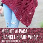 Merlot Alpaca Wrap Shawl Knitting Pattern