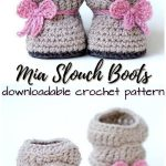 Mia Slouch Boots Crochet pattern by Two Girls Patterns | Knitting Patterns | LoveKnitting
