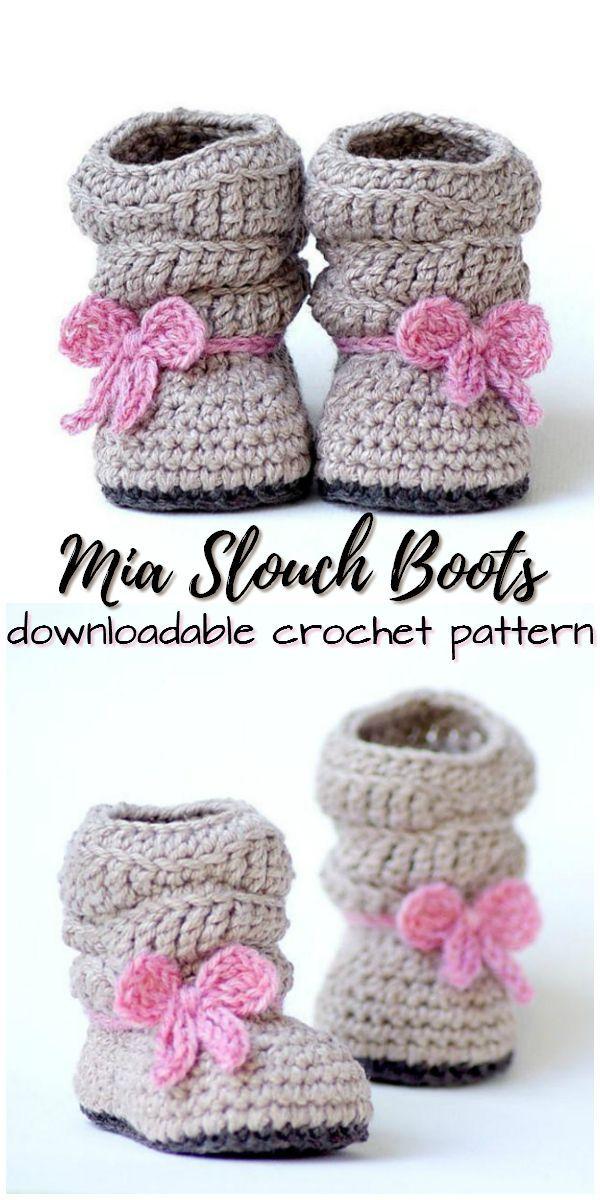 Mia Slouch Boots Crochet pattern by Two Girls Patterns | Knitting Patterns | LoveKnitting