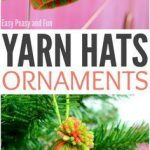 Mini Yarn Hats Ornaments - DIY Christmas Ornaments