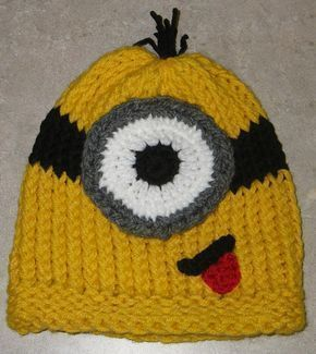 Minion- Free Hat Pattern,  #Free #Hat #minion #pattern #minionpattern Minion- Fr…