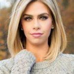 Mittellange gerade blonde volle Spitze-Menschenhaarperücke 12 Zoll#BeautyBlog #...