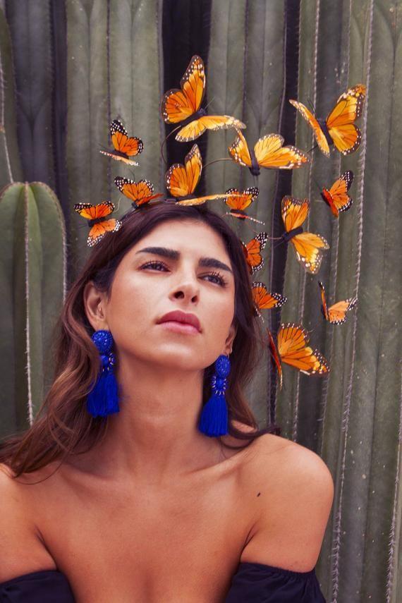 Monarch Butterfly Costume Fascinator Headpiece
