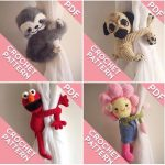Monkey curtain tie back crochet PATTERN, left or right side PDF instant download, tieback amigurumi PATTERN
